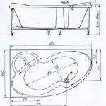 Акриловая ванна BellSan Индиго 1600х1005×715
