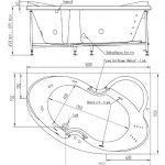 Акриловая ванна BellSan Индиго 1680х1100×715