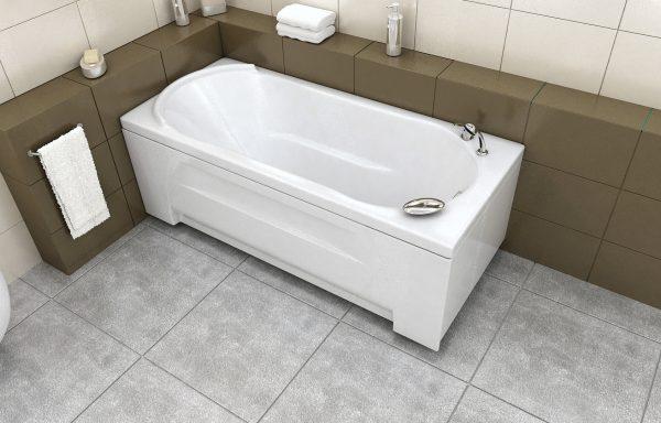 1. Прямоугольные акриловые ванны