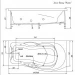 Акриловая ванна BellSan Милен 1700x890x680
